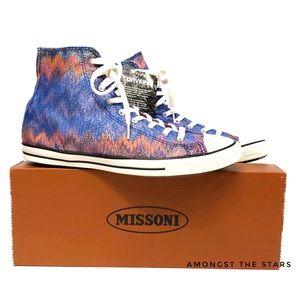 Missoni x Converse All Star Chevron Hi Sneakers